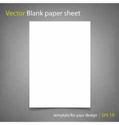 Blank paper sheet template for your design vector