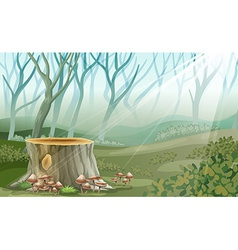 A trunk at the forest vector