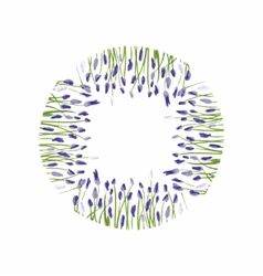 Lavender wreath watercolor hand drawn floral vector