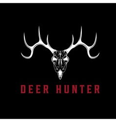 Deer skull design template vector