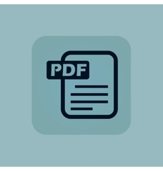Pale blue pdf file icon vector