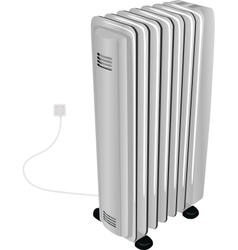 Oil electric heater vector