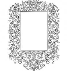 Vintage frame with swirls vector