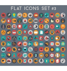 Big set of flat icons with modern colors vector