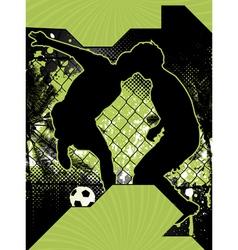 Soccer grunge poster vector