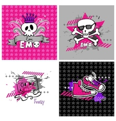 Emo banners suitable for t-shirt print vector