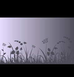 Evening meadow background vector