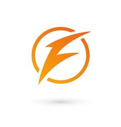 Letter f lightning logo icon vector