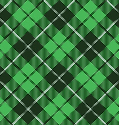 Green tartan fabric texture diagonal little vector