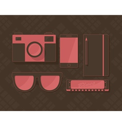 Hipster pink vector