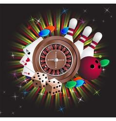 Gambling equipment vector