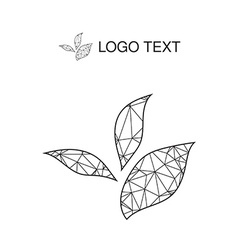 Ecology logo or icon in eps nature logotype vector