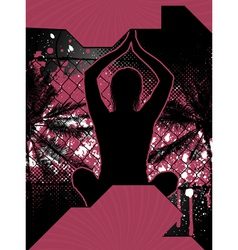 Yoga grunge poster vector