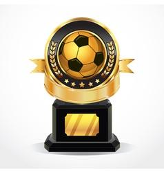 Soccer golden award medals vector