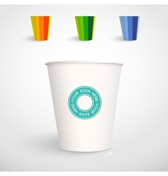 Realistic paper cup template vector