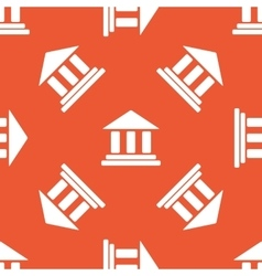 Orange museum pattern vector