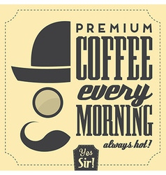 Typographic retro coffee background vector