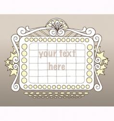 Doodle marquee vector