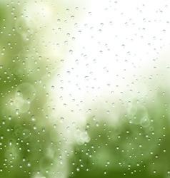 Raindrops on the window vector