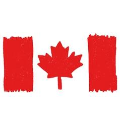 Flag of canada handmade vector