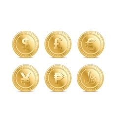 Currency coins vector