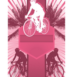 Cycling design poster vector