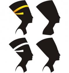 Silhouette head vector