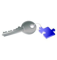 Key to puzzle concept vector
