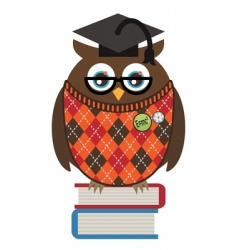 Owl professor vector