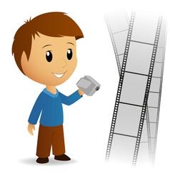 Operator video camera vector