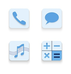 Set of icons for mobile app vector