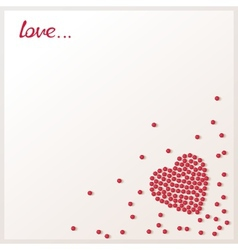 Love background with loose red beads vector