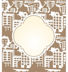 Town label seamless vector