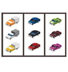 Isometric car set vector