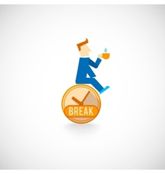Coffe break flat icon vector