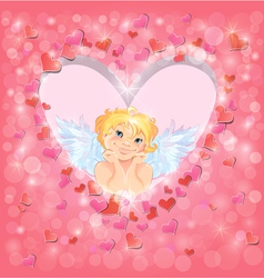 Light heart angel 380 vector
