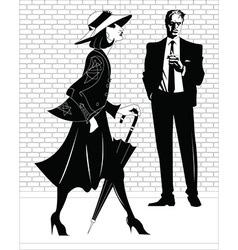 Femme fatal cartoon vector