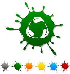 Recycle blot vector