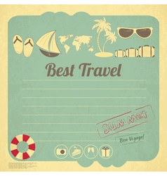 Summer travel card vector