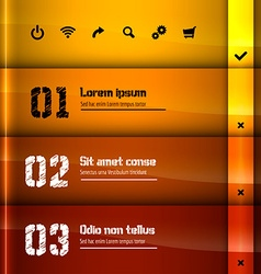 Glossy layout vector