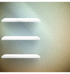 Big sale 3d isolated empty shelves for exhibit vector