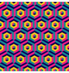 3d seamless abstract with hexagonal elements vector