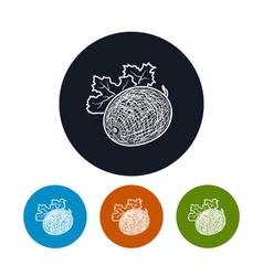 Icon melon in the contours vector