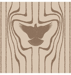 Wood grain stylized as a bird vector