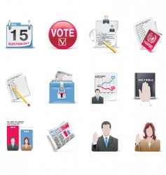 Voting and election icon set vector