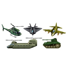 Fighting vehicles vector