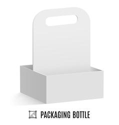 Packaging for bottles vector