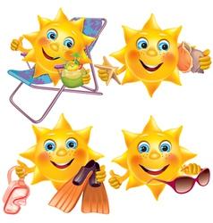 Fun sun on vacation vector