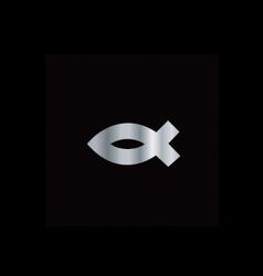Christianity ichthys fish vector