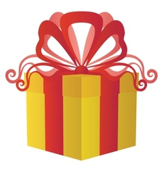Gift box square vector